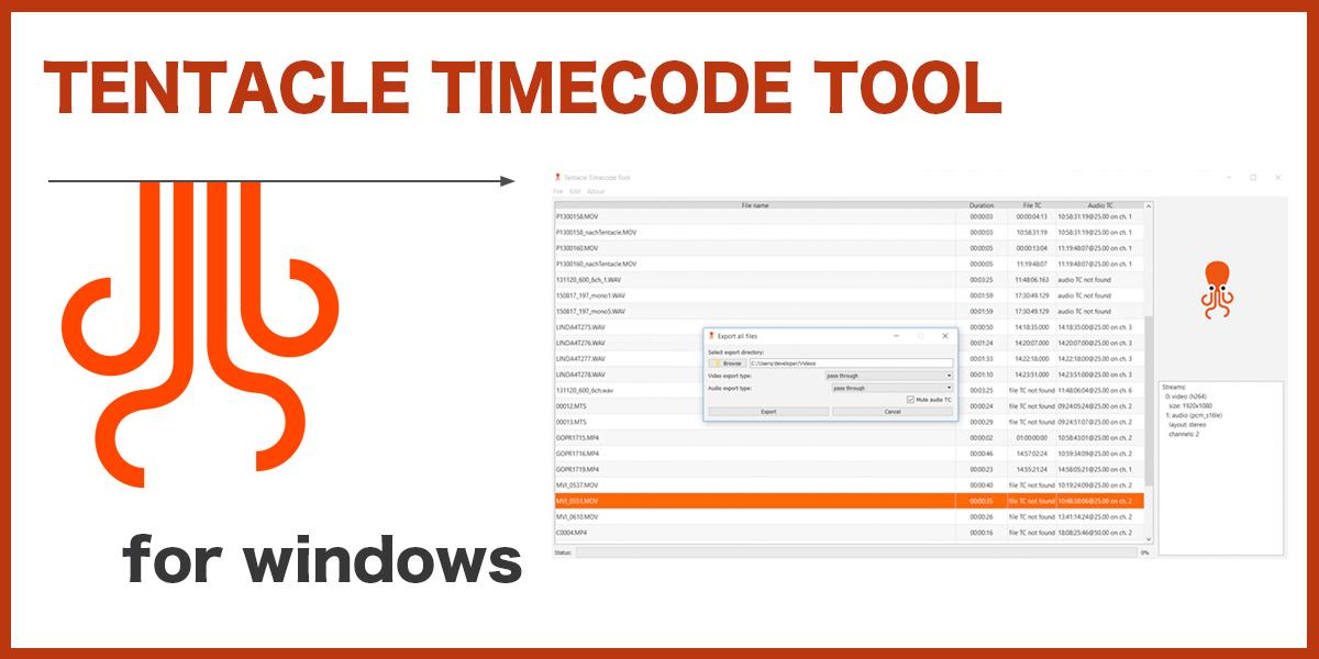 タイムコードを簡単同期 TENTACL...